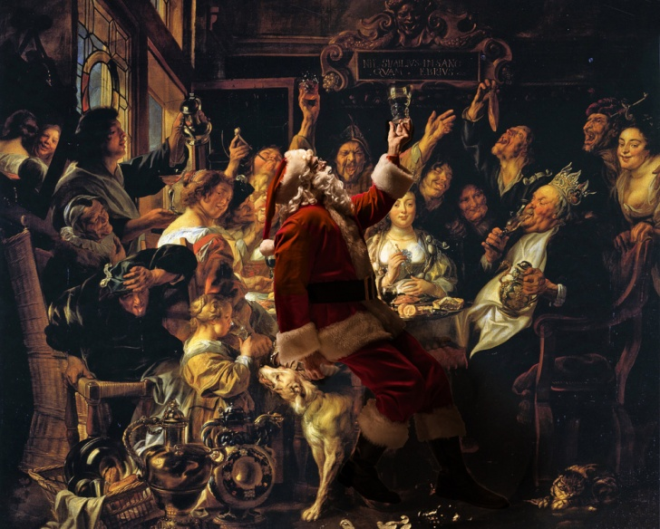 Santa Claus Inserted Into the Great Masterworks! 15 Pics!