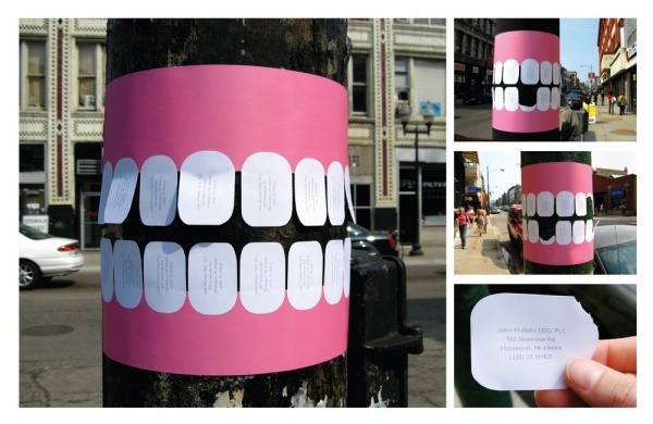 14 Genius Advertising Ideas on Pillars!