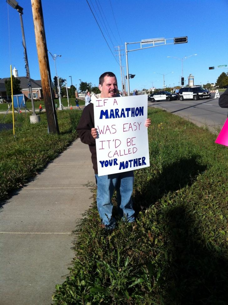 11 Motivating Signs at Marathons!