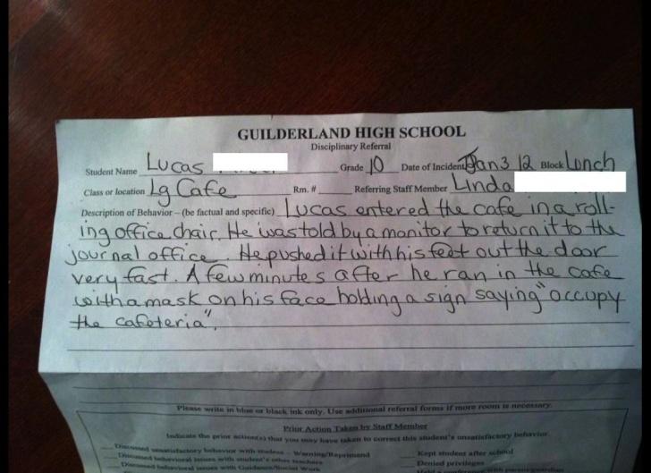 10 Funny School Detention Slips!