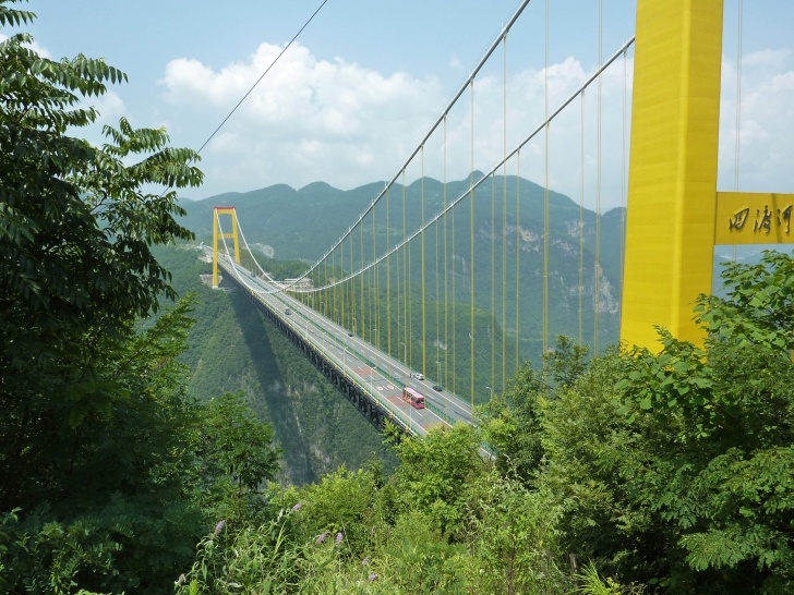 Image result for Sidu River Bridge, China