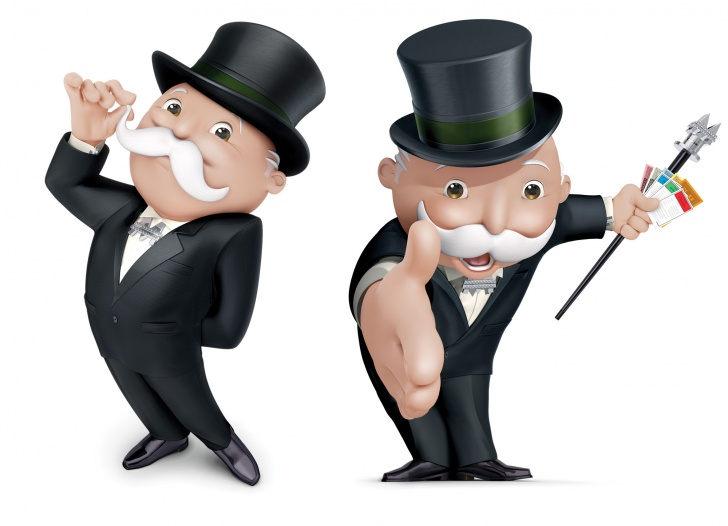 Mr monopoly man holding money
