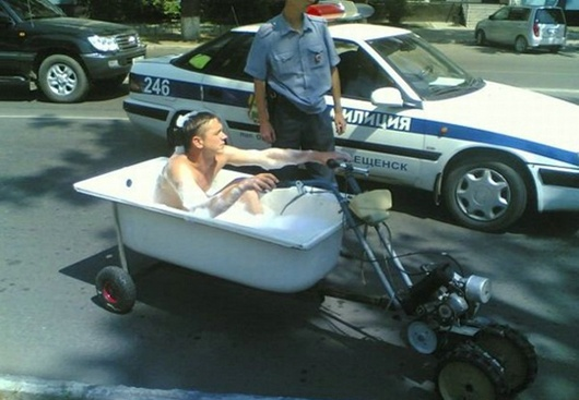 Incredibly Weird But Funny Self-Made Vehicles: 10 Pics!